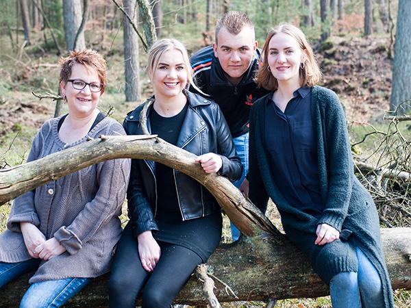 Gezinsfotografie in het bos